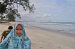 pemandangan di tepi pantai